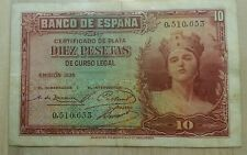 10 PESETAS 1935 SIN SERIE
