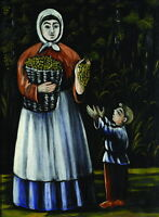 """perfect oil painting handpainted on canvas""""A Peasant Woman with Her Son""""@N5479"""