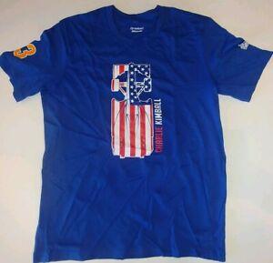 Charlie Kimball 83 Chip Ganassi super soft mens Licensed T-Shirt NWT 3XL Blue