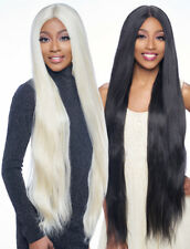 "LSD92 - HARLEM 125 SYNTHETIC 6"" DEEP PART SWISS LACE FRONT WIG EXTRA LONG 38"""