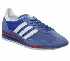 Womens Adidas Sl 72 Trainers Blue White Hires Red Trainers Shoes