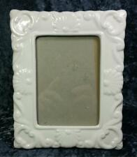 Shabby Style Ceramic Frame Photo Size 3.5 x 5 Sculpted Surface Cottage Country