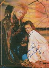 "David Bowie & Jennifer Connelly ""Die Reise ins Labyrinth"" Autogramme signed A4"