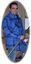 Thermohemd blau kariert Holzfällerhemd Gr. XXXL (51505)