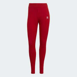 Adidas Originals Women's Adicolor 3-Stripes Tights NEW AUTHENTIC Scarlet GN8076