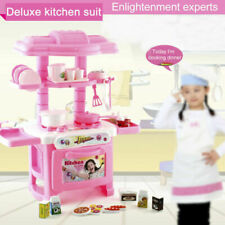 Cooking Pretend Play Set Kids Toddler Playset Toy Gift Kitchen Toy Pink FA USA
