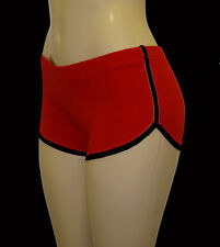 Red Retro Shorts with Black Trim Extra Small