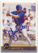 ADAM PIATT MIDLAND ROCKHOUNDS OAKLAND A'S SIGNED BASEBALL CARD TAMPA BAY RAYS