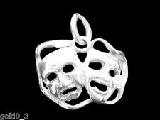 Comedy and Tragedy Masks Charm Sterling silver 925 charmmakers