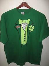 Coors Light Beer Shamrock Irish Leprechaun Saint Patricks Day Pub Ale T Shirt XL