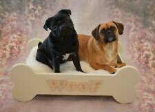 Wooden Dog Bed MDF Personalised with or without Cushion