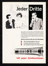 3w02402/vieja publicitarias de 1961-Blend-A-MED - ayuda a contra hemorragia gingival