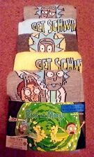 Mens Boys Rick and Morty Socks Five 5 Pairs Grey Blue Yellow Size UK 9 - 12