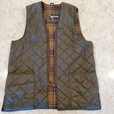 Barbour quilted waistcoat (aka insulated vest ) - olive green - men's 42