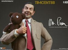 Ready! Enterbay HD Masterpiece 1/4 Mr. Bean Rowan Atkinson 2 Heads Figure