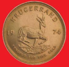 1974 1 oz Gold Krugerrand bullion coin.