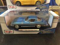 1:18 maisto 1965 Chevrolet Corvette American Classic Muscle Sports Super Car BLU