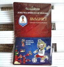Official 2018 FIFA WORLD CUP Russia MAGNET 8 x 5cm Blue Tags New
