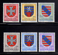 LUXEMBURGO/LUXEMBOURG 1958 MH SC.B204/B209 YT.553/558 Coat of Arms
