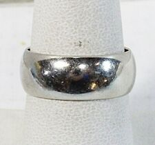14K Solid White Gold Wedding Band Comfort Fit Ring 7mm
