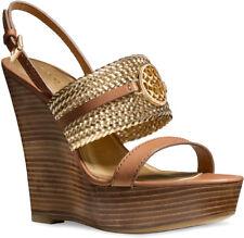 Coach Beatriz Ginger Gold Platform Wedge Sandals Size 9 M
