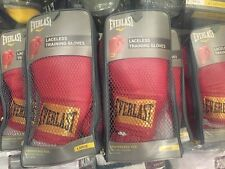 Lot Of Boxing Equipment 6 Pairs of Everlast Gloves Red Laceless