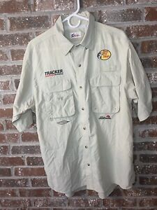 Bass Pro Shops Embrodiered Fishing Tournament Button Down Size L