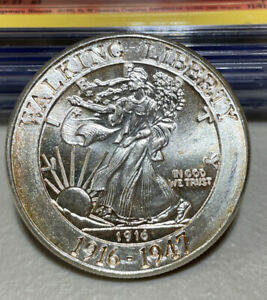 1916-1947 Walking Liberty Commemorative 1 oz .999 Fine Silver Round
