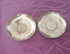 2 Münzteller 925 Silver 6.7oz Silver