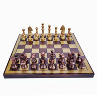 """Brand New Dal Rossi Italy Egyptian Resin Chess Set 16/"""" Board"""