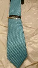 Van Heusen Aqua Geometric Narrow Skinny Neck Tie Retail $36 NWT