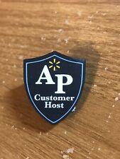 Rare Walmart Lapel Pin AP Customer Host Shield Spark Asset Protection Pinback