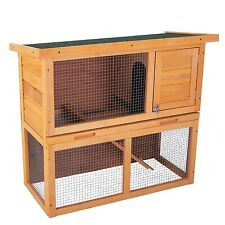 "Wooden Chicken Coop 36"" Rabbit Hutch Hen House Poultry Pet Cage Waterproof Wood"