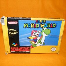 Vintage 1992 SUPER NINTENDO ENTERTAINMENT SYSTEM SNES Super Mario World Game PAL