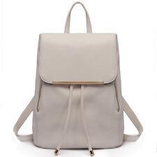 Damen Lederrucksack PU Damentasche Daypacks Für Uni Freizeit Urlaub Schule