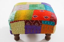 Handwork Pouf Beads Work Pouf Multi-color Cotton Pouf Indian Handmade Footstool