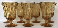 Vintage Fostoria Jamestown Iced Tea Glasses Amber Set of 7