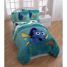 Disney Finding Dory Twin Single Kid Comforter & Sheet Set (4 Piece Bed In A Bag)