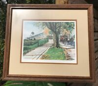 Kathleen Chaney Fritz Signed #ed Mackinac Island Grand Hotel Framed Art Print