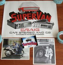 Rare 1970s Craig Stereo & CB Poster Ad SUPER VAN George Barris Bat Cycle Photo