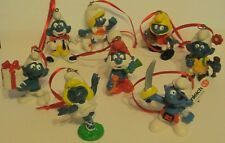 Schleich Smurfs 8Pc. Artesian Ornaments Smurfette Football Papa Pirate Soccer