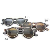 Sunglasses Flip Up Eyeglasses Round Unisex Leopard Fashion Retro Sunglasses