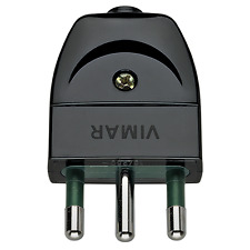 VIMAR SPINA 2P+T 16A 16A ASSIALE NERO 00202