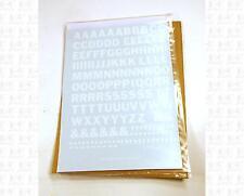 Virnex HO Decals White 7/16 Inches Bold Gothic Letter Set 2071 Alphabet