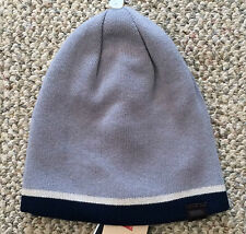 Levi's Mens (or boys) One Size Reversible Knit Beanie Winter Hat Blue Gray