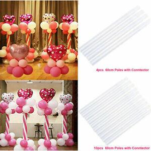 1/4/10pcs Plastic Sticks Pole For Balloon Arch Column Base Stand Wedding Decor