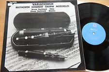 Swiss JECKLIN  Variationen BURKHARD Flöte Klavier Beethoven Schubert mint