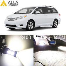 Alla Lighting Fog Light H11 White LED Bulbs Driving Lamps for Toyota Chevy Sonic