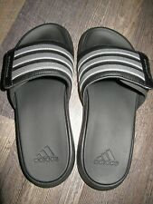 Adidas Superstar 4G Slides Men's 9 Black/Silver Slippers Recovery Sandals