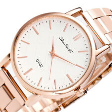 @^Fashion Geneva Luxury Crystal Analog Quartz Stainless Steel Women Wrist Watch